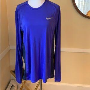 Nike Dri-Fit Running Shirt Side Vents EUC